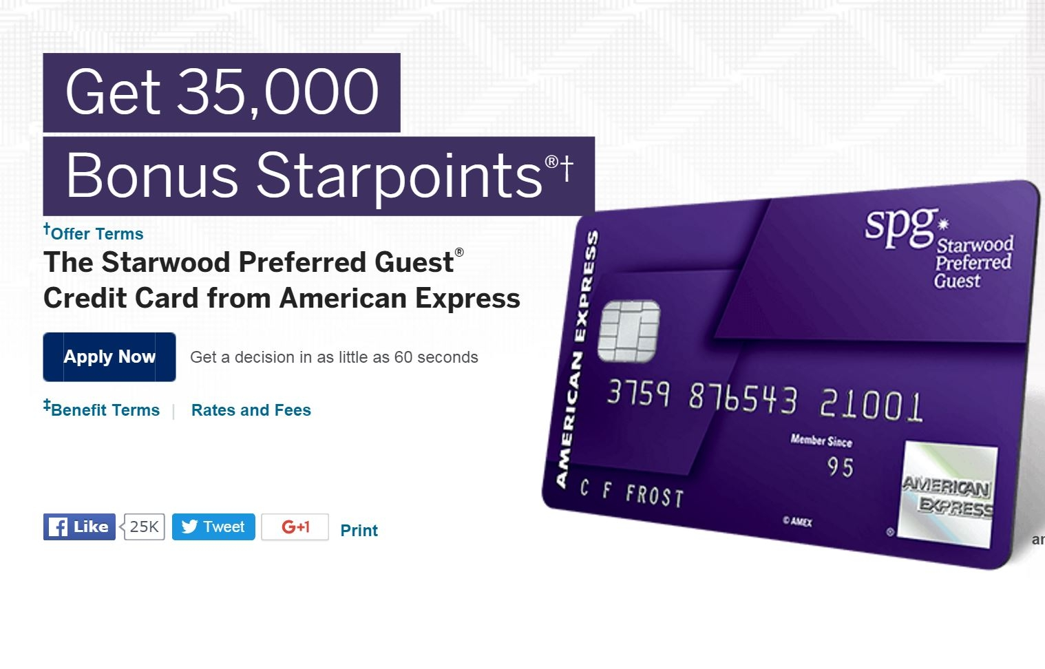 It's Back: Limited Time Increased Sign Up Bonus on SPG AMEX! 35,000 Starpoints!