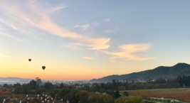 sunrise napa valley hot air balloon flight
