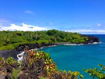 road to hana maui black sand beach