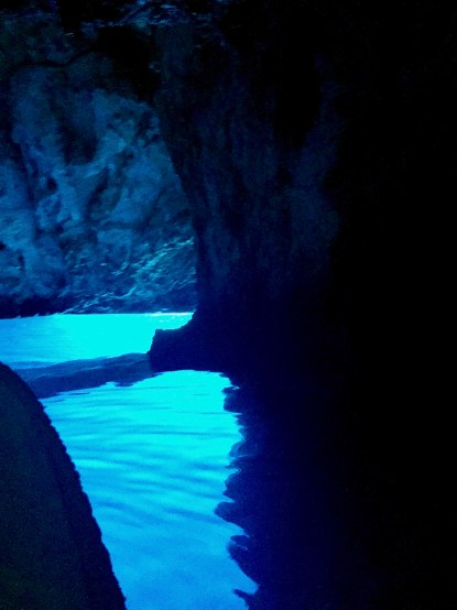 The blue cave off of the Island of Vis in Croatia