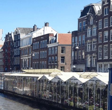 bloemenmarkt floating flower market amsterdam, waldorf astoria amsterdam