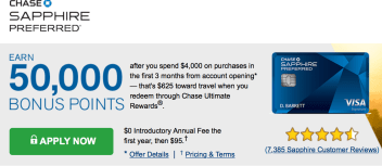 chase sapphire preferred, chase ultimate rewards sign up bonus