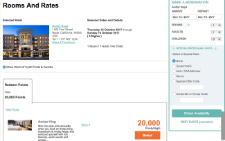 andaz napa, chase ultimate rewards, hyatt globalist, world of hyatt, napa on miles and points