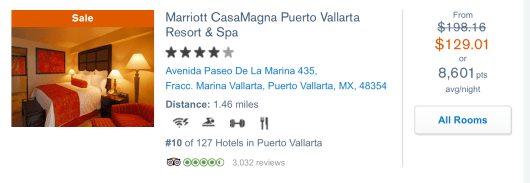 Puerto Vallarta Marriott Chase Ultimate Rewards