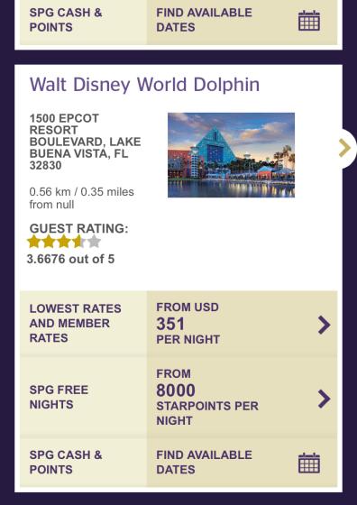 disney dolphin spg points