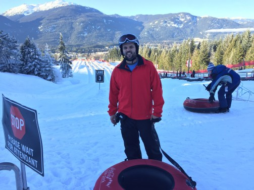 snow tubing in Whistler, Canada