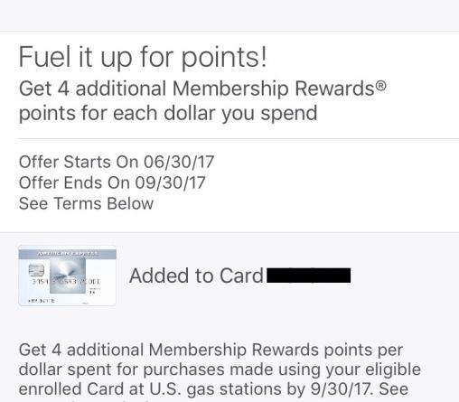 5x membership rewards on gas!