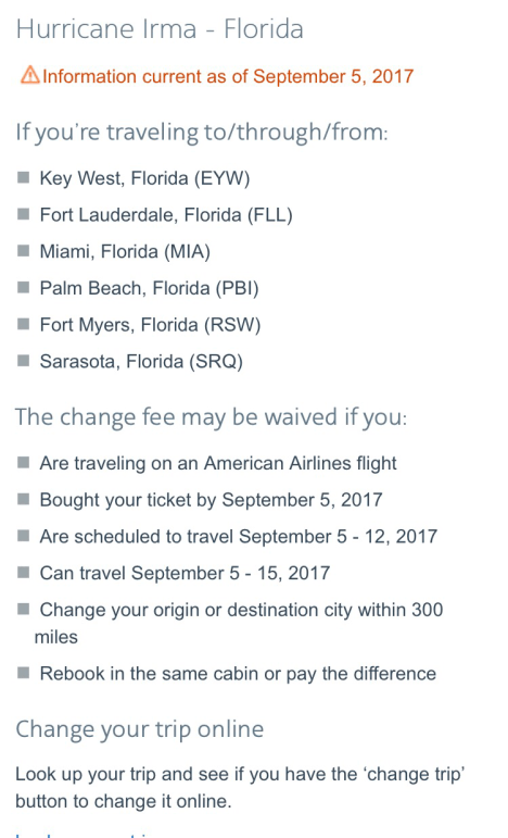 AAdvantage award ticket travel alert