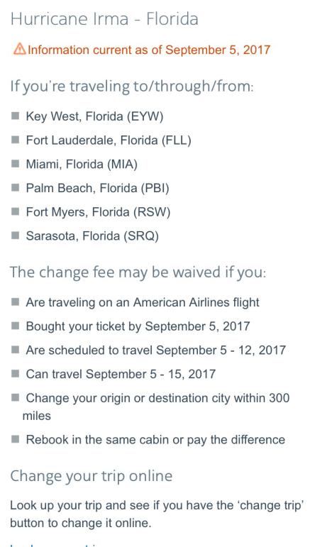 AAdvantage award ticket travel alert
