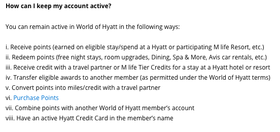 World of Hyatt points expiration, do Hyatt points expire