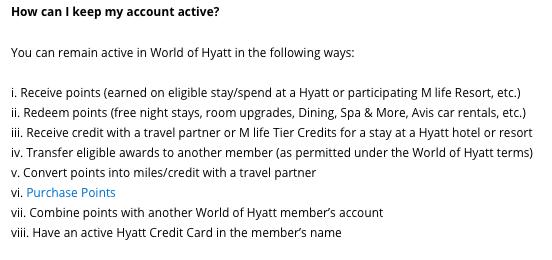 World of Hyatt points expiration, do Hyatt points expire