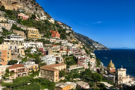 View of Positano on the walk from our hotel into the town center