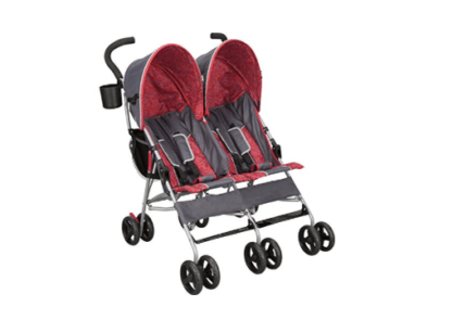 Double umbrella stroller travel with twins
