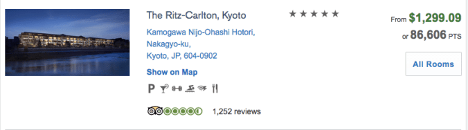 ritz kyoto chase ultimate rewards, how to book with chase ultimate rewards redemption portal