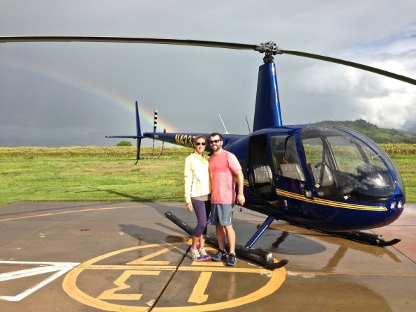 Kauai helicopter tour, Hawaii on miles and points