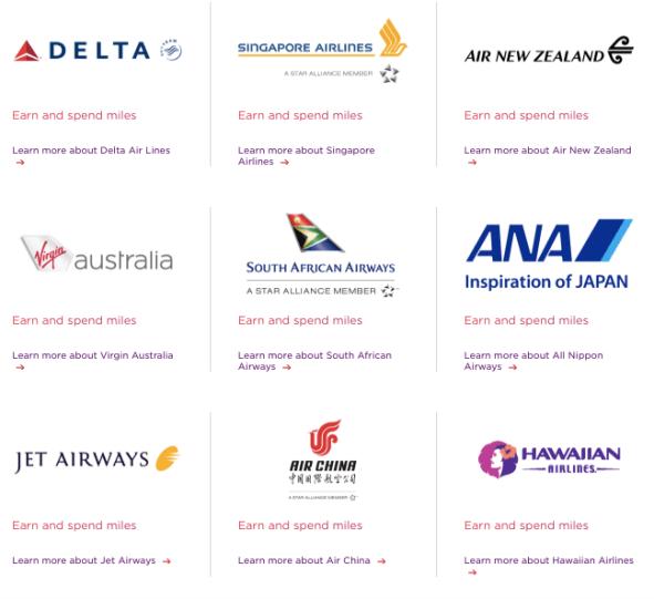 Virgin Atlantic Flying Club partners