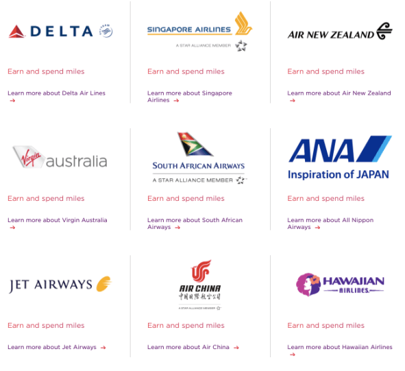 Virgin Atlantic Flying Club partners
