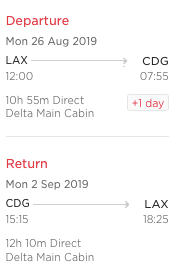virgin Atlantic miles to book delta flight from Paris