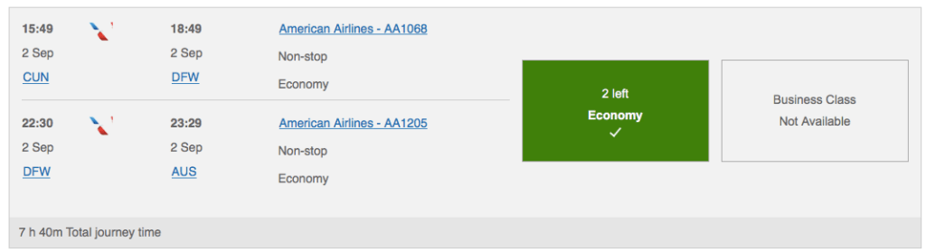 how to book aa flights with ultimate rewards