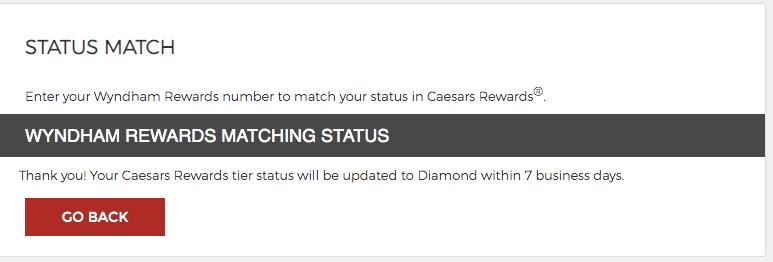caesars rewards diamond 2020