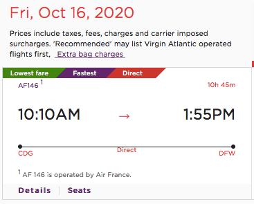 paris flights with virgin atlantic