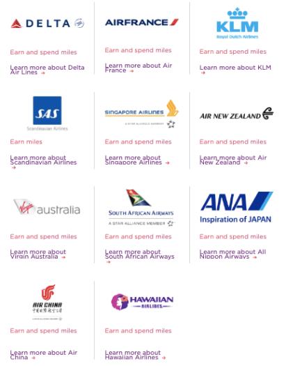Virgin Atlantic redemption partners