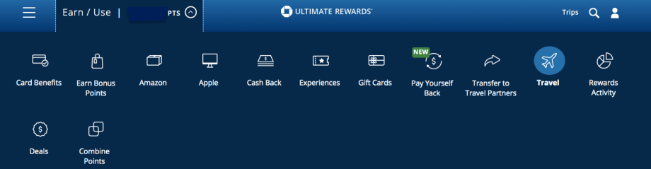 how to book travel with Chase Ultimate Rewards points