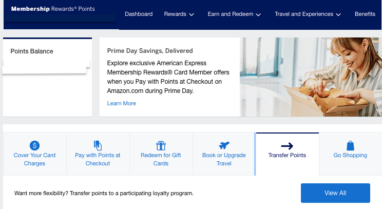 how to transfer amex points to airlines