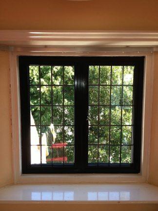 Aluminium black window interior