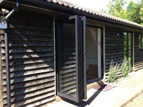 Bi-folds doors black