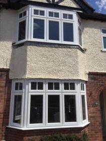 PVCu bay windows double-glazed