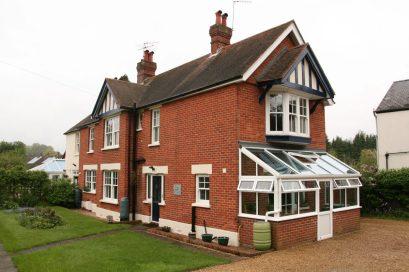 PVCu Conservatory redbrick house