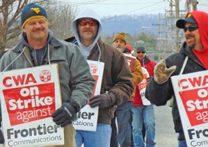 Appalachia telecom workers strike against Frontier