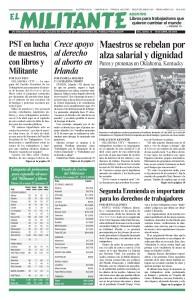 thumbnail of El Militante Vol. 82/No.15