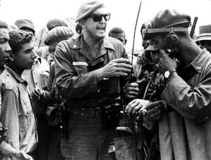 José Ramón Fernández, center, field commander of Cuba's Revolutionary Armed Forces, during counterattack that defeated U.S.-organized invasion at Bay of Pigs in 72 hours in April 1961.
