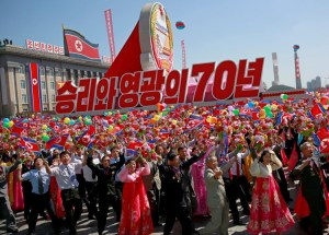 Sept. 9 Pyongyang parade on 70th anniversary of Democratic People's Republic of Korea, focused on economic development, reunification of Korea, with no display of nuclear missiles.