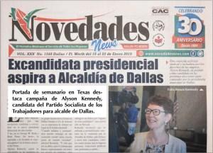 Campaña del PST para alcalde de Dallas recibe buena respuesta