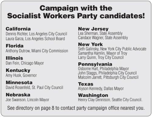 Socialist Candidates