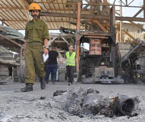 Cement factory in Ashkelon, southern Israel, struck by missiles May 5. Three Israelis were killed in the attack, including a Bedouin worker at the factory. Deadly barrage launched by Tehran-backed Hamas and Islamic Jihad and brutal retaliation from Tel Aviv highlight necessity of immediate talks to recognize both Israel and an independent Palestinian state.