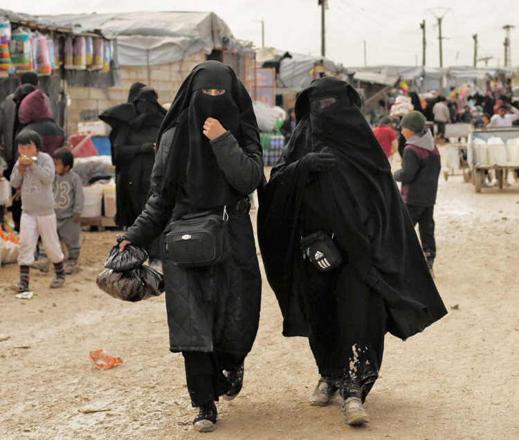 "Thousands of women formerly ""married"" to Islamic State fighters and their children are being held in appalling conditions in al-Hol, above, and other detention camps in Syria and Iraq."