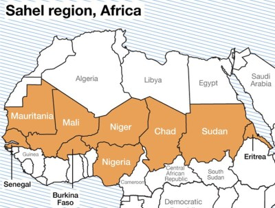 French government has deployed troops to Burkina Faso and Mali in Sahel region in Africa.