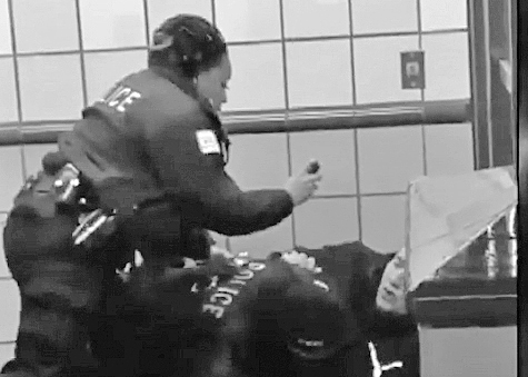 Cellphone video shows Ariel Roman being tackled, pepper-sprayed by two cops on Chicago subway station Feb. 28, then they shot him twice. His crime? He walked between cars.