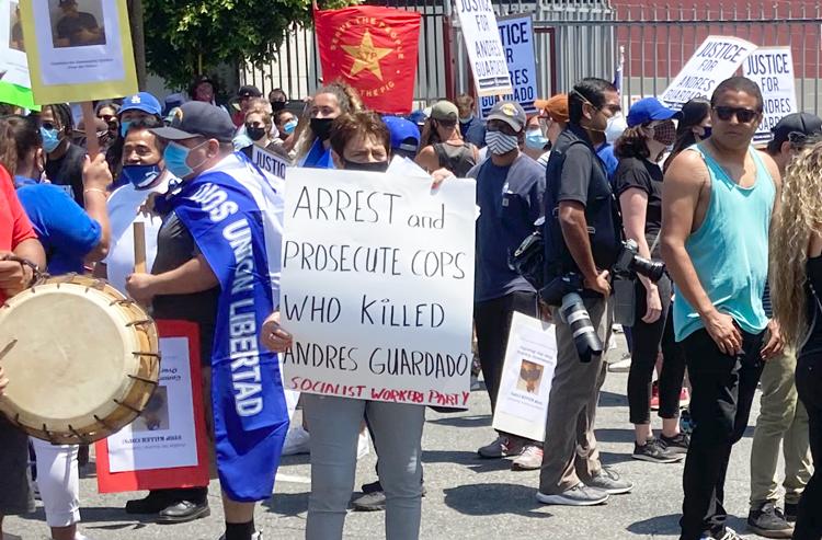 'Prosecute cops who killed Andres Guardado'