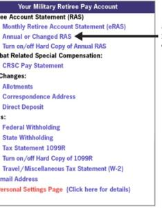Mypay retiree account statement military also retired pay dates  annuitant schedule rh themilitarywallet