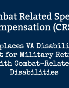 Combat related special compensation crsc benefits  replaces va disability offset for military retirees with disabilities also rh themilitarywallet