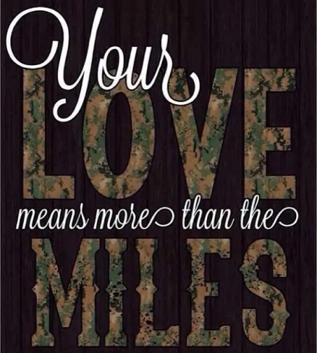 """meme that reads """"your love means more than the miles."""""""