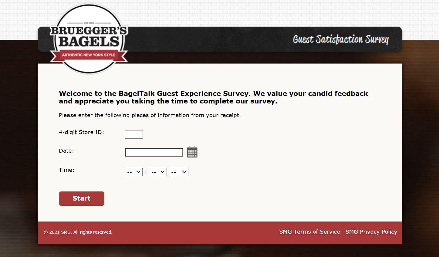 www.TellBrueggers.com - Win a Free Offer - Bruegger's Baked Fresh Survey