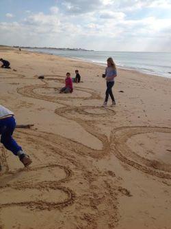 classe verte sand art