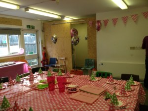 Children's room at the Mill ready for the party to start