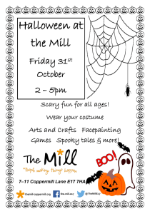 Halloween at the Mill